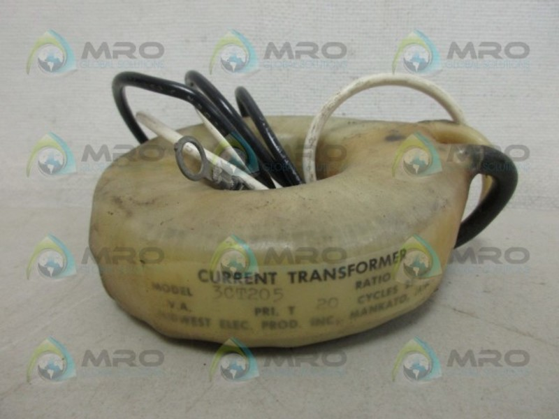 MIDWEST ELECTRIC 3CT205 CURRENT TRANSFORMER NEW NO BOX