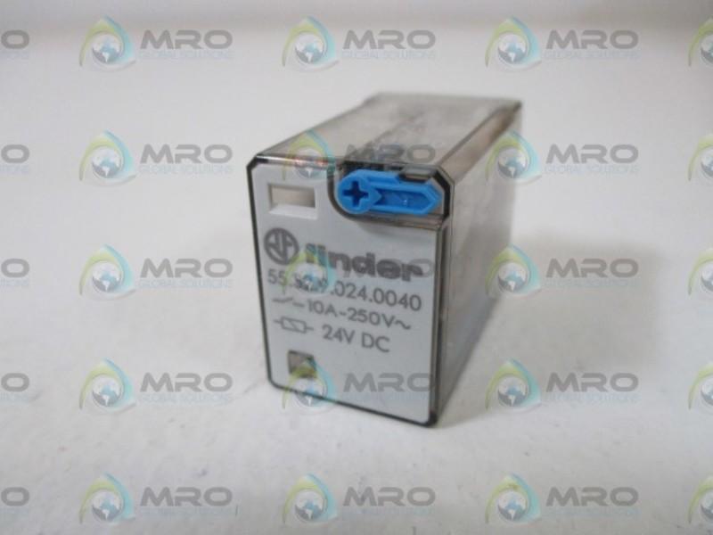 Finder 55.32.9.024.0040 24VDC Relay w// 94.02 8 Pin Din Rail Socket 10A 250V