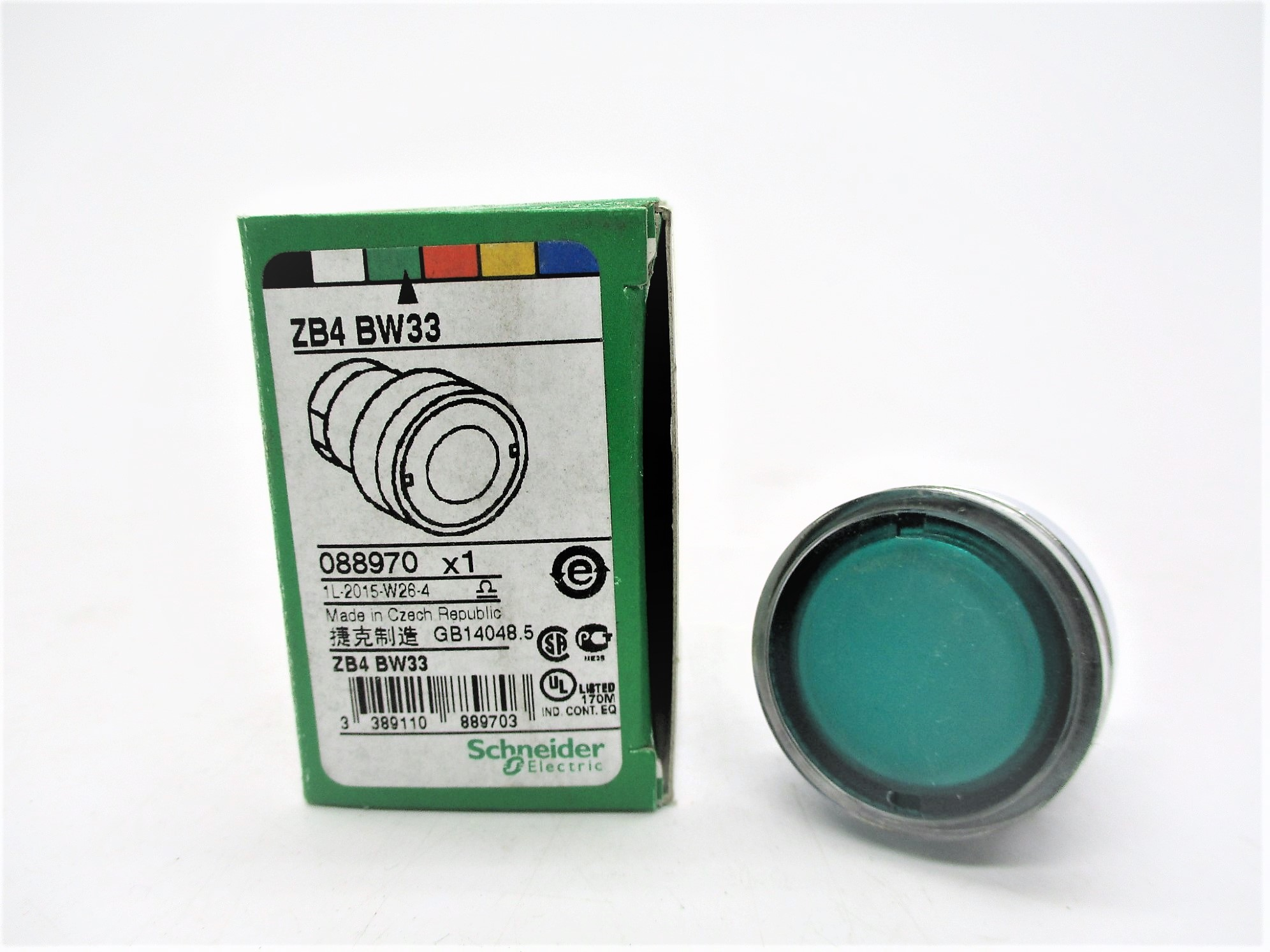 SCHNEIDER ELECTRIC ZB4BW33 Push Button *New In Box* Ships Same Day