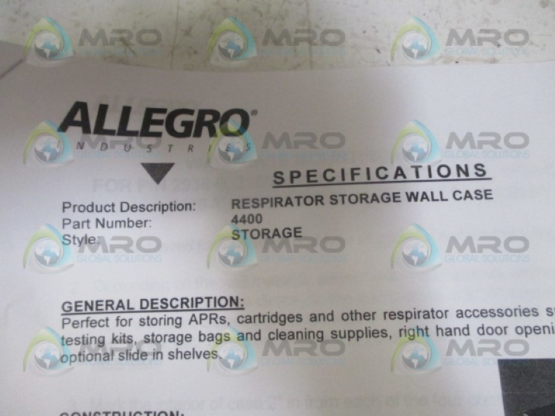 ALLEGRO-4400-RESPIRATOR-STORAGE-WALL-CASE-NEW-IN-BOX miniature 7